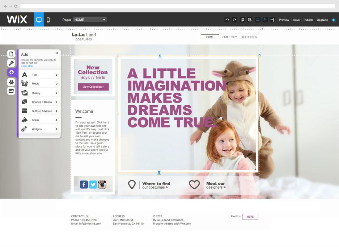 Création de site internet Gratuit avec Wix - Ludovic Danteny - AGence webmarketing à Nouméa